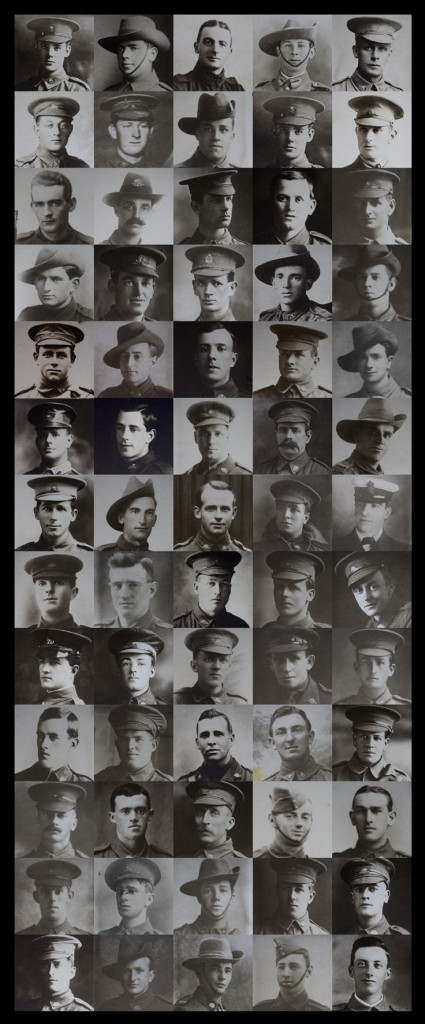 Photographic montage of Ballarat's men who fought during World War I (Image: Andrew Thomas)