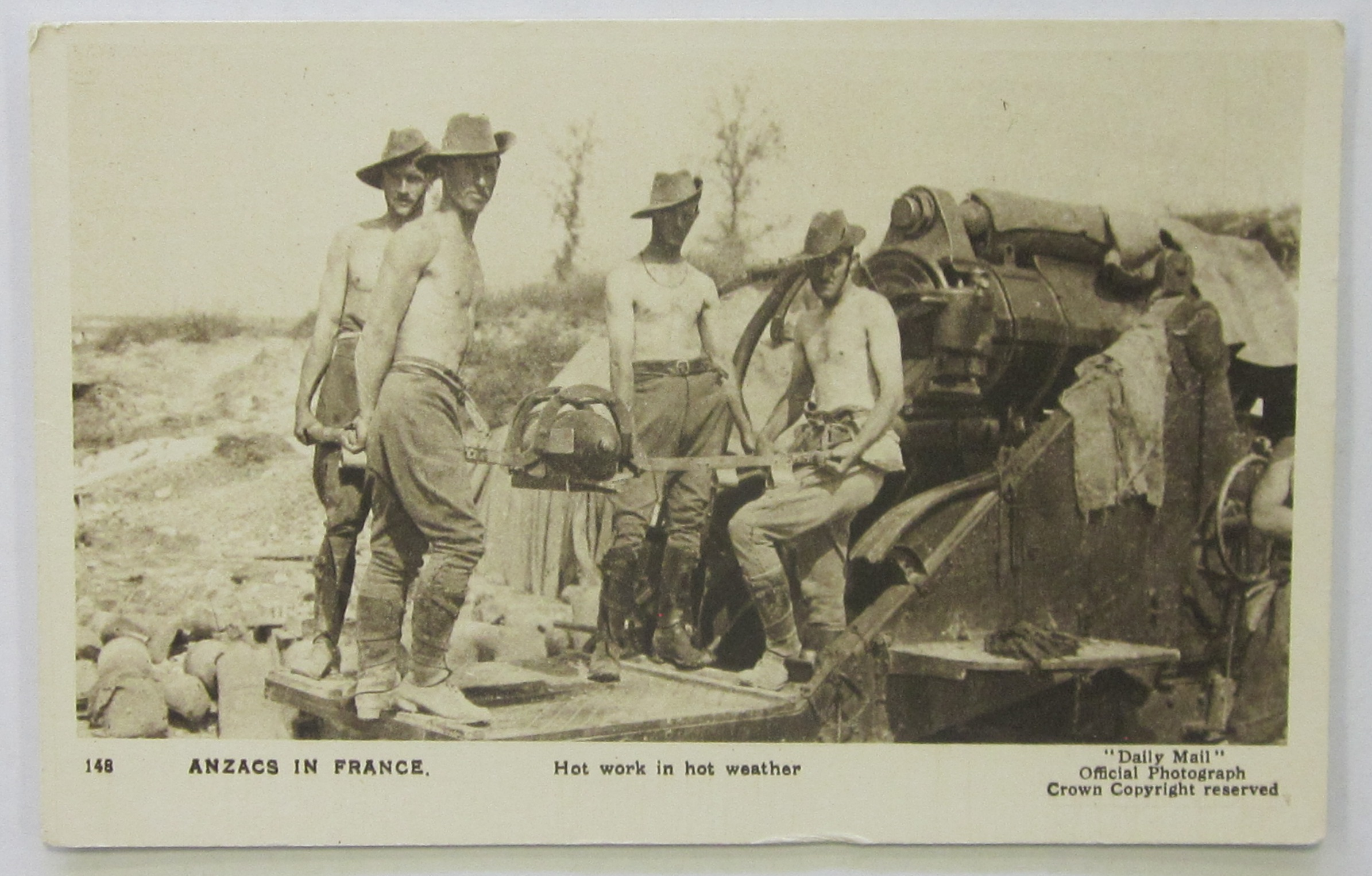 Anzacs in the trenches in France (Gold Museum collection, 83.12673)