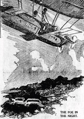 Mystery airship as depicted in Sydney's Globe newspaper (National Library of Australia)