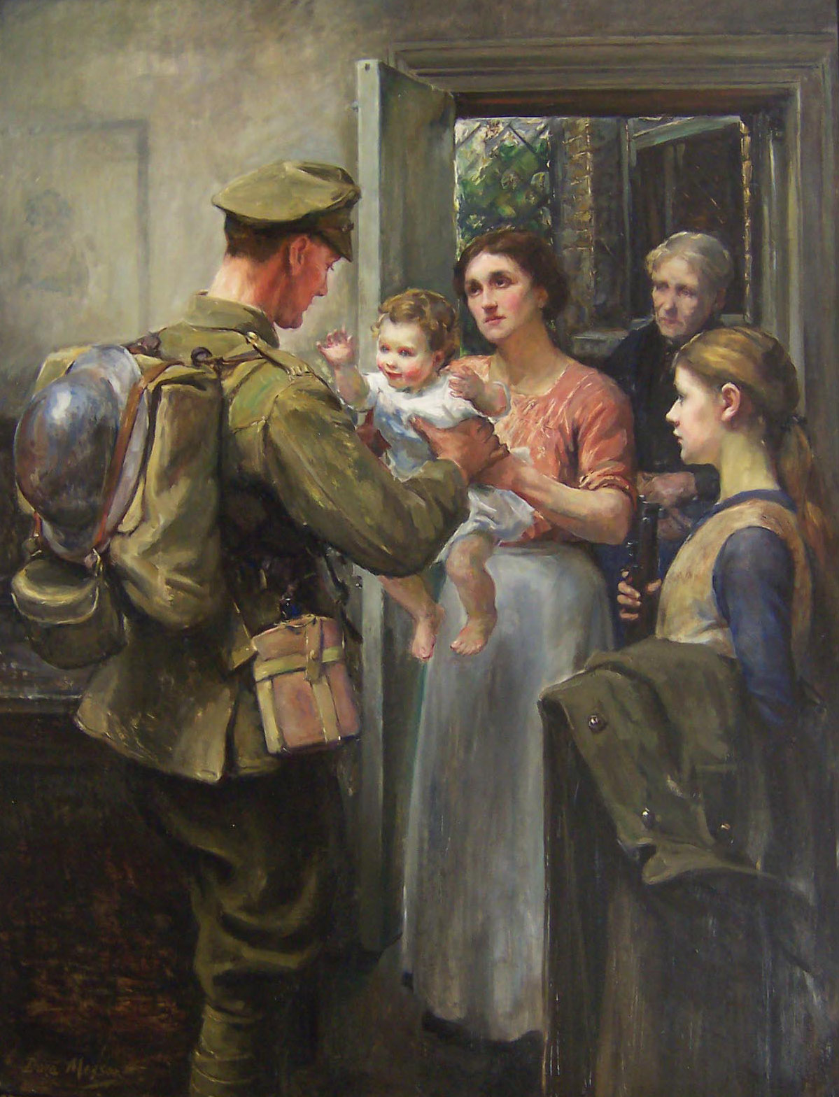 Dora Meeson's Leaving for the Front, 1916 (Ballarat Art Gallery)