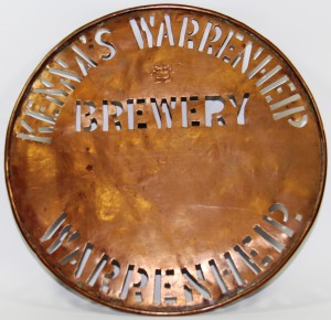 Warrenheip Brewery stencil (Gold Museum collection, 78.2100)
