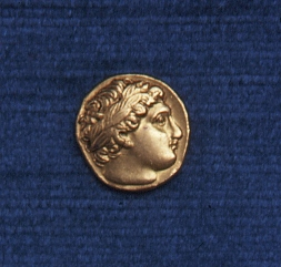 Front of a stater coin from Ancient Greece, 359-336 BC (Gold Museum collection, 76.0144)