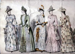 Fashion Print, 'Young Ladies Journal', 1889 (Gold Museum collection, 82.1368)