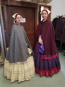 Trinity Gurich (right) experiencing 1850s life at Sovereign Hill with fellow Deakin University intern Danni Roberts